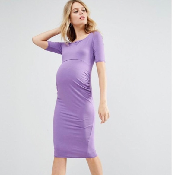 1aee357a8bcee ASOS Maternity Dresses | Tall Bardot Dress With Half Sleeve | Poshmark